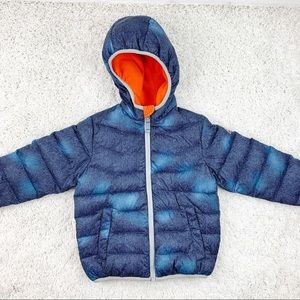 Snozu Blue Pattern Puffer Snow Coat 4T